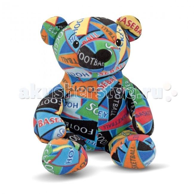 Мягкая игрушка Melissa &amp; Doug Мишка ЗакМишка ЗакМягкая игрушка Melissa & Doug Мишка Зак - приносит радость и рождает самые нежные чувства и положительные эмоции к окружающему миру.  Мягкий красочный мишка из флиса наполнен маленькими шариками, поэтому его так приятно держать в руках, обнимать, брать с собой в кровать на ночь. Детишки будут в восторге от своего нового друга.  На мишке изображены разноцветные лоскутки с надписями различных видов спорта.  Мягкая игрушка компании Melissa & Doug отличается высоким стандартом качества и безопасности детских товаров. Игрушка мастерски выполнена из материалов высочайшего качества.<br>