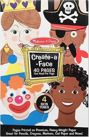 Melissa &amp; Doug Набор ЛицаНабор ЛицаMelissa & Doug Набор Лица - удивительный набор для творчества, с помощью которого даже тот ребенок, который пока еще только учится рисовать, может нарисовать лица разных людей!  В наборе - 40 страниц из плотной бумаги, на каждой странице - контур лица. С помощью этих наклеек можно создавать различные рожицы персонажей, выбирая по своему усмотрению глаза, нос, рот, прическу и различные аксессуары.   Можно также использовать аппликацию.<br>