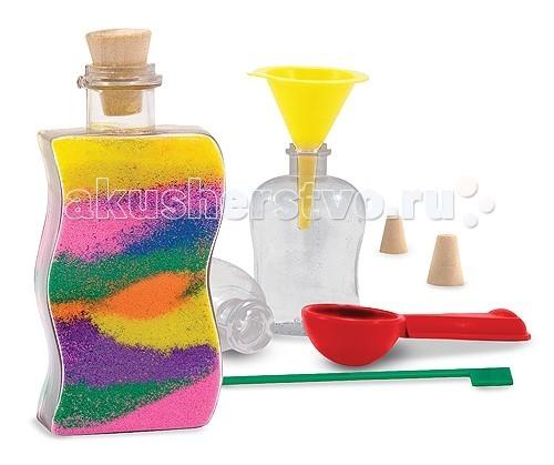 Melissa &amp; Doug Набор Песочные картиныНабор Песочные картиныMelissa & Doug набор Песочные картины - для создания оригинальных дизайнов из разноцветного песка.  Несмотря на то что данный набор предназначен в первую очередь для детей, с его помощью можно создать прекрасные декоративные элементы. Набор понравится как ребенку, так и взрослому.  В наборе: 3 пластиковых бутылочки с пробками 8 пакетиков с разноцветным песком воронка ложечка специальный инструмент для равномерного распределения песка.  Несмотря на то что данный набор предназначен в первую очередь для детей, с его помощью можно создать прекрасные декоративные элементы. Набор понравится как ребенку, так и взрослому.<br>