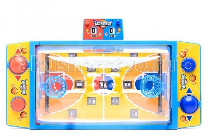 Играем вместе Настольная игра Баскетбол GKF698-RНастольная игра Баскетбол GKF698-RИграем вместе Настольная игра Баскетбол предназначена для двух участников.  Вы сможете устроить настоящий чемпионат по баскетболу.   Главная цель – забросить мяч в корзину соперника как можно больше раз.   Играя в настольный баскетбол, ребенок разовьет координацию движений и быструю реакцию. Если вы хотите поиграть большой компанией, устройте игру на выбывание. Таким образом, количество участников будет не ограничено.<br>