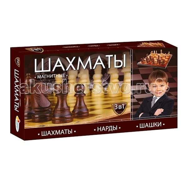 Играем вместе Магнитные шахматы 3 в 1 G049-H37001R