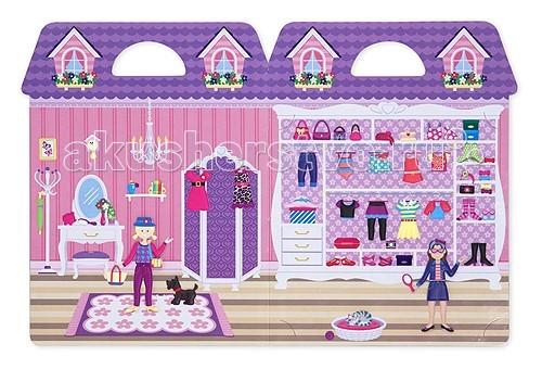 Melissa &amp; Doug Набор со стикерами и фоном Магазин одеждыНабор со стикерами и фоном Магазин одеждыMelissa & Doug Набор со стикерами и фоном Магазин одежды - Ваш малыш будет в восторге от оргромной коллекции платьев, четыре куклы и несколько фонов в одном наборе.  Оденьте кукол на свой вкус, комбинируйте наряды для разных случаев.  С помощью этих стикеров ребенок сможет создать самый настоящий магазин. В набор входят листы с фонами, на которые нужно наклеивать стикеры.  В наборе: более 76 объёмных наклеек, которые можно использовать несколько раз.<br>