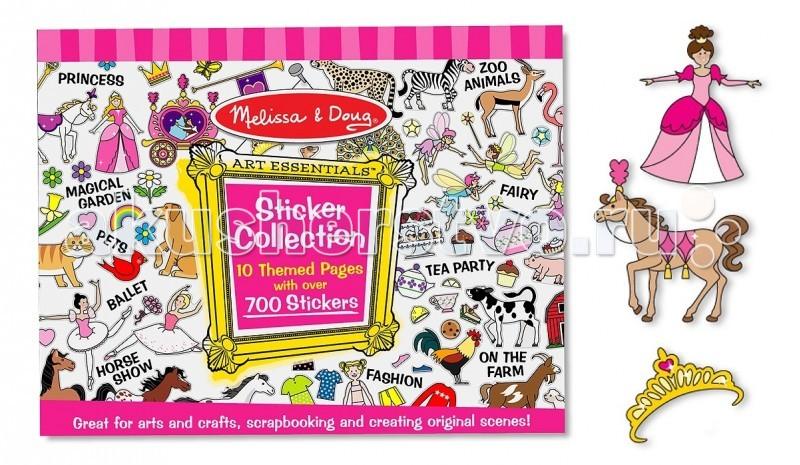 Melissa &amp; Doug Набор стикеров розовыйНабор стикеров розовыйMelissa & Doug Набор стикеров розовый - обязательно понравится Вашей малышке, ведь в нём есть принцессы, одежда, аксессуары, очаровательные животные, цветы, феи и многое другое с помощью которых можно создать картину или рассказать историю.  В этом гигантском наборе Вы найдете 800 стикеров!   Стикеры помогают детям развивить творческое мышление, художественные навыки и чувство вкуса.<br>