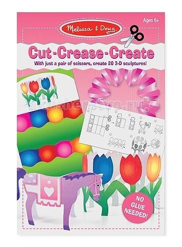 Melissa &amp; Doug Набор для творчества Оригами без клея розовыйНабор для творчества Оригами без клея розовыйMelissa & Doug Оригами без клея розовый - с помощью ножниц и крафт-бумаги, которая идет в комплекте Ваш малыш сможет создать потрясающие бумажные скульптуры: фигурки животных, браслеты, замок принцессы и многое другое.   На каждом листике есть инструкция, их в комплекте 20 штук, на которых нарисованы линии и штрихи, по которым нужно вырезать или сворачивать фигурки.<br>