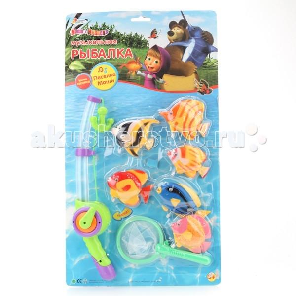 Играем вместе Игра Рыбалка Маша и Медведь B803208-R2Игра Рыбалка Маша и Медведь B803208-R2Играем вместе Игра Рыбалка Маша и Медведь перенесет ребенка в мир морских приключений! Запустите разноцветных тропических рыбок в ванной и, вооружившись удочкой и сачком, приступайте к веселой рыбалке!   Игровой набор имеет звуковые и световые эффекты, которые поразят малыша. Игрушка превосходно развивает сенсомоторную координацию и реакцию.<br>