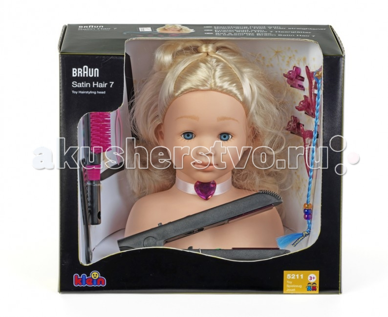 Klein Модель для причесок с утюжком для выпрямления воолос Braun