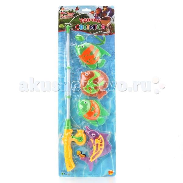 Играем вместе Игра рыбалка Маша и Медведь B917363-R2Игра рыбалка Маша и Медведь B917363-R2Играем вместе Игра рыбалка Маша и Медведь приведет вашего малыша в восторг.   В комплекте имеется 4 разноцветные рыбки и удочка, которая может светиться.   Стоит только поместить рыбок воду и можно начинать увлекательную игру. С таким набор набором, ваш малыш не будет скучать и станет настоящим рыбаком.<br>
