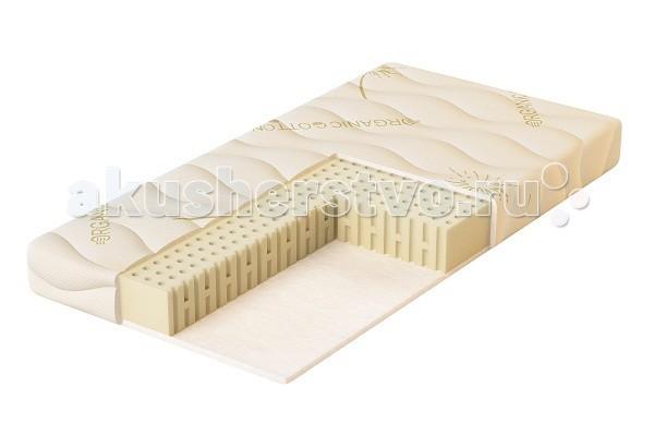 Матрас Плитекс Organic Comfort 119х60х11Organic Comfort 119х60х11Organic Comfort – Премиум-класс. Абсолютная натуральность хлопка и латекса. Матрас для детей от рождения до 3 лет в чехле из органического хлопка. Размер: 119 х 60 х 11 см Преимущества: • Ортопедический и анатомический эффект – точечно поддерживает тело ребенка, позволяя мышцам расслабиться, при этом спина остается в прямом положении, обеспечивается правильное формирование осанки.  • Гипоаллергенный! Наполнители матраса получили немецкий сертификат качества Oeko-Texstandard 100 class 1 (самый высокий класс безопасности).  • Дышащий. Матрас прекрасно вентилируется, быстро сохнет. • Съемный чехол. Это важное условие, на которое мы рекомендуем обращать особое внимание при покупке матраса. Съемный чехол упростит уход за матрасом и позволит Вам удостовериться, что наполнители соответствуют заявленному качеству. В матрасе Plitex молния с трех сторон чехла — так его гораздо легче снимать и надевать.   Состав: Стеганый чехол Organic Cotton – чехол из органического хлопка. Это особая разновидность известного всем натурального хлопка. Органический хлопок выращивается без использования пестицидов и химических удобрений. Это уникальный материал, который даже собирается вручную! Благодаря ткани из органического хлопка уменьшается риск заболеваний, которые могут быть вызваны теми или иными видами химикатов. Помимо гипоаллергенных свойств, ткань дает особенный комфорт. Чехлы из органического хлопка – эталон экологической безопасности и абсолютной натуральности. Латекс ARTILAT, Бельгия (100 мм) - природный наполнитель, изготовленный из сока дерева гевеи, или, как нам привычней слышать, из каучука. Благодаря специальной обработке латекс приобретает микропористую структуру, подобную строению пчелиных сот, с заполненными воздухом ячейками. Обладает высочайшими анатомическими свойствами – всегда принимает форму тела и удерживает позвоночник в правильном положении. Бесшумный, гипоаллергенный, «дышащий» материал, не впитыва