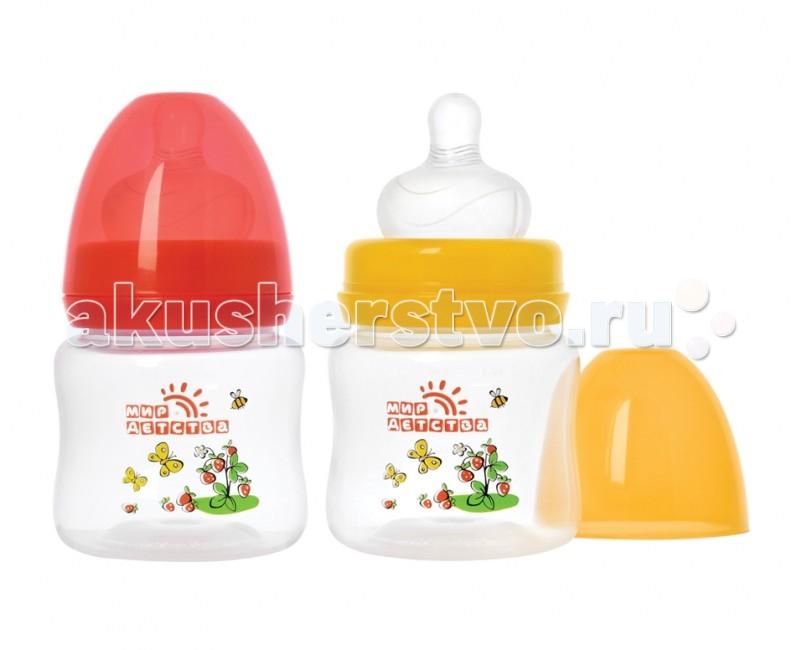 Бутылочка Мир детства для кормления с широким горлом 125 мл