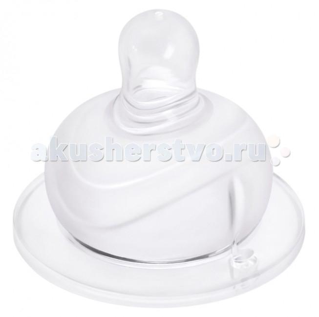 Соска Мир детства силиконовая для бутылочки с широким горлом 6+ 2 шт.