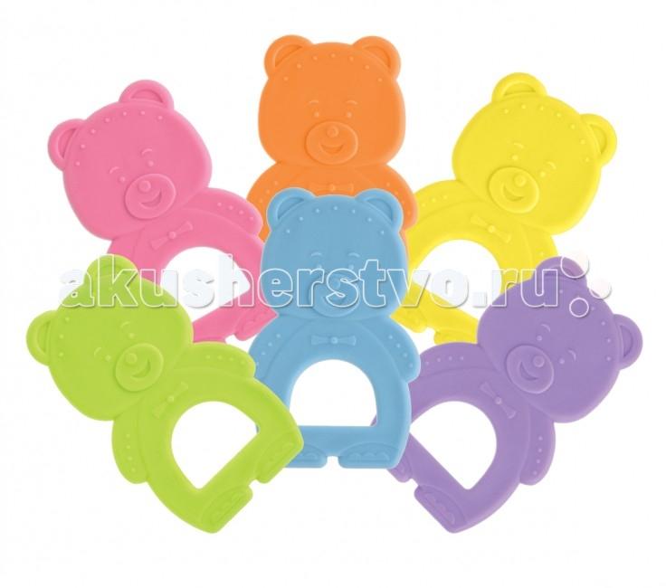 Прорезыватель Мир детства МедвежонокМедвежонокРазнообразные по своей фактуре детали игрушки помогут малышу развить моторику, воображение, концентрацию внимания, цветовое восприятие.  Рекомендуемый возраст: от 4 месяцев  Материал: термопластрезина<br>