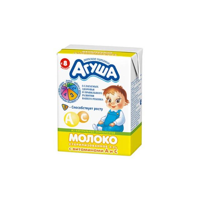 Агуша Молоко стерилизованное витаминизированное 2.5% 200 мл