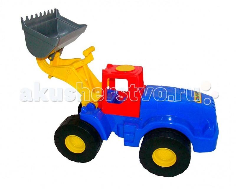 Wader Трактор-погрузчик ГранитТрактор-погрузчик ГранитWader Трактор-погрузчик Гранит с управляемым ковшом для игры в песке. Ребенок может сесть на удобное сиденье и с помощью ручек управлять ковшом -это очень легко и просто, но главное- интересно. Мега-экскаватор на колесах специально предназначен для земляных работ, поэтому каждому мальчишке захочется посидеть и поработать на нем, выкапывая песок в песочнице.   На детской площадке экскаватор будет пользоваться популярностью, потому что там много нужно сделать с помощью него. Да и дома для него обязательно найдется работа. Мега-экскаватор выполнен из ударопрочной пластмассы. Детский экскаватор дает возможность применить ребенку свою фантазию, помогает разыгрывать различные ситуации.   Это идеальная игрушка для игр на открытом воздухе и отлично подойдет для игры на даче, во дворе, на загородных участках, на площадках, в песочницах. Игрушки Wader отличаются высоким качеством, дизайном и функциональностью. Яркий и красивый дизайн понравится Вашему малышу!   Играть с экскаватором понравится любому малышу и доставит удовольствие как мальчику, так и девочке. Кто сказал, что девочки не могут управлять экскаваторами ? Им также как и мальчишкам будет очень интересно управлять этой машиной. Эта машина способна решать большие воспитательные задачи, развивает много хороших качеств: помощь друзьям и взрослым, ответственность, заботу, доброту и внимание. Оцените это и учите детей играть! Детская машина Wader - это пластмассовая игрушка, изготовленная из высококачественного сырья.  Особенности: Мега-экскаватор на колесах специально предназначен для земляных работ, поэтому каждому мальчишке захочется посидеть и поработать на нем, выкапывая песок в песочнице.  У экскаватора подвижный ковш, поворачивающийся корпус и массивные прорезиненные бесшумные колеса, которым не помеха ни лужи, ни грязь.  Ковш - с ручным управлением для рытья котлованов и ям, а также имеется грейдер для выравнивания песочных дорог.  В производстве этих машин ис