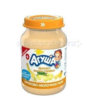 Агуша Пюре Яблоко-банан-сливки 200 г