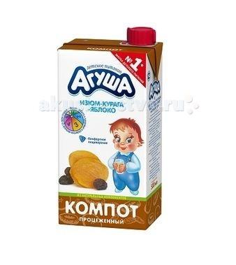 Агуша Компот Курага-изюм-яблоко 500 мл