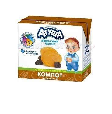 Агуша Компот Курага-изюм-яблоко 200 мл