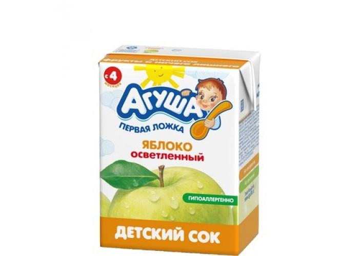 Агуша Сок детский осветленный без сахара Яблоко 200 мл