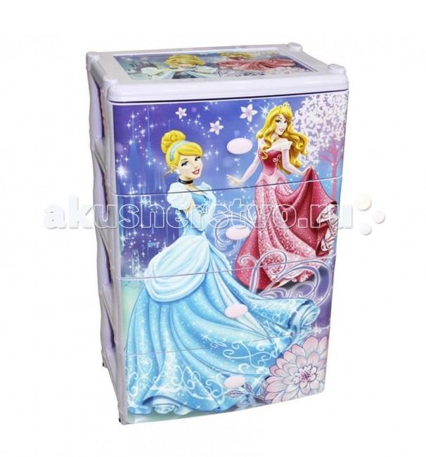 Альтернатива (Башпласт) Комод широкий Принцессы 3335МКомод широкий Принцессы 3335МDisney Комод широкий Принцессы оснащен четырьмя выдвижными ящиками. Этот красивый комод украсит любую детскую комнату.   Особенности: Пластиковый комод имеет приятный детский рисунок, изготовлен из высокопрочного пластика, хорошо моется, дополнит интерьер комнаты вашего малыша.  Просторные выдвижные ящики легко вместят в себя немалый объем вещей. Выполнен из первичного полипропилена, абсолютно безопасного для здоровья ребенка.  Не имеет запаха. Поверхность комода отличается высокой стойкостью к воздействию влаги и прямых солнечных лучей, что значительно увеличивает срок эксплуатации.  Комод пластиковый, высокой прочности с выдвижными крепкими ящиками.  В комоде можно хранить игрушки, принадлежности для творчества, книги, бельё и другие различные предметы.   Размер изделия: Ширина - 290 мм Длина - 380 мм Высота - 635 мм  Материал изделия: пластик.<br>