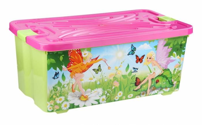 Альтернатива (Башпласт) Контейнер для игрушек ФеиКонтейнер для игрушек ФеиАльтернатива Контейнер для игрушек Феи с крышкой.   Особенности: Контейнер украшен яркими картинками, изготовлен из экологически чистого пластика.  Контейнер с крышкой, удобный и вместительный, легкий и компактный. Ребенок сможет самостоятельно складывать в контейнер свои игрушки, одежку.<br>