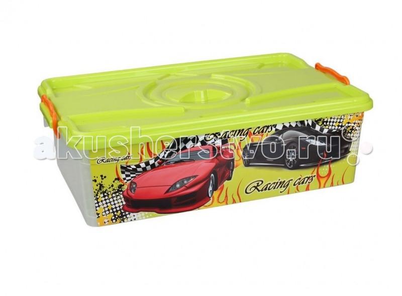 Альтернатива (Башпласт) Контейнер Формула-2 30 лКонтейнер Формула-2 30 лАльтернатива Контейнер Формула-2 с крышкой.   Особенности: Контейнер украшен яркими картинками, изготовлен из экологически чистого пластика.  Контейнер с крышкой, удобный и вместительный, легкий и компактный. Ребенок сможет самостоятельно складывать в контейнер свои игрушки, одежду.<br>
