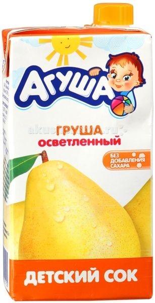 Агуша Сок детский осветленный Груша 500 мл