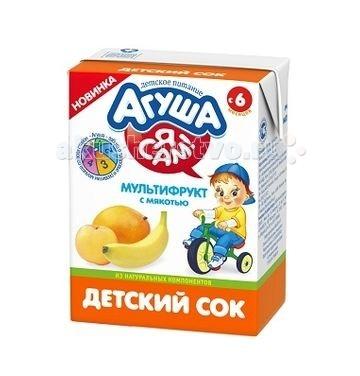 Агуша Сок с мякотью Мультифрукт 200 мл