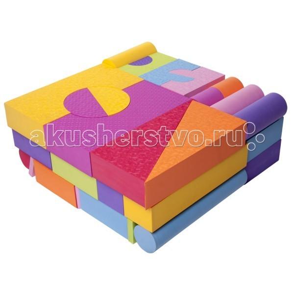 Конструктор Moove&amp;Fun мягкий 48 блоков MF-EVA-X-09Sмягкий 48 блоков MF-EVA-X-09SКонструктор Moove&Fun мягкий – необходимый и веселый помощник в развитии мелкой моторики, что, в свою очередь, способствует развитию речи ребенка, зрения, внимания, памяти, его воображения и интеллекта.  Игровой мягкий набор 48 блоков. Толщина блока 8 см.  Мягкие и безопасные конструкторы знакомят ребенка с формой, цветом, размером. Вспомните, какие цвета имели игрушки из Вашего детства? Ограниченный набор тусклых типовых цветов : красный, белый, синий, зеленый, желтый, белый. Мы заботимся о том, чтобы детство наших детей было ярким и интересным. И говорим «нет» блеклым невыразительным цветам! Создавайте любые игровые формы ярких сочных цветов с помощью мягких конструкторов !   Элементы конструктора не впитывают воду, но если их намочить, они прилипают к поверхности ванны, к плитке, друг к другу.   Материал: EVA (Этиленвинилацетат-безопасный, экологически чистый материал) Производство соответствует стандарту ISO9001 сертификации систем качества США  Способы ухода: При необходимости протирать мягкой тканью, смоченной в слабом мыльном растворе. Запрещается применять растворители, сольвенты, абразивные вещества для очистки набора.<br>