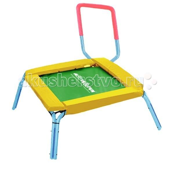 Moove&amp;Fun Батут 36 с ручкой, квадратныйБатут 36 с ручкой, квадратныйБатут 36 Moove&Fun с ручкой, квадратный  - высококачественный, прочный, легкий в сборке.    b> Особенности:    Съемная рукоятка в неопреновой оболочке позволяет сохранять равновесие во время прыжков.   С легкостью транспортируется - может быть использован как снаружи, так и внутри помещения.   Толстая стальная труба рамы  Вкладыши безопасности толщиной 3 см для дополнительной защиты  Надежный и долговечный мат для прыжков  Более безопасный резиновый амортизационный трос вместо пружин   Габариты рукоятки: 35 x 74 см Габариты мата: 71 x 71 см Размер: 90х90х74 Максимально допустимый вес: 27<br>