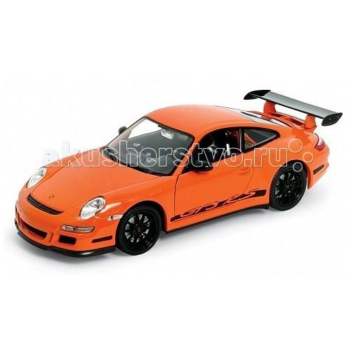 Welly Модель машины 1:24 Porsche 911 (997) GT3 RSМодель машины 1:24 Porsche 911 (997) GT3 RSМодель машины 1:24 Porsche 911 (997) GT3 RS  Коллекционная модель масштаба 1:24 Porsche 911 (997) GT3 RS.   Функции: открываются передние двери, капот.<br>