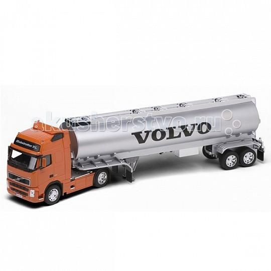 Welly Модель грузовика 1:32 Volvo FH12 (цистерна)Модель грузовика 1:32 Volvo FH12 (цистерна)Модель грузовика 1:32 Volvo FH12 (цистерна)  Коллекционная модель седельного тягача с цистерной Volvo FH12 в масштабе 1:32.<br>