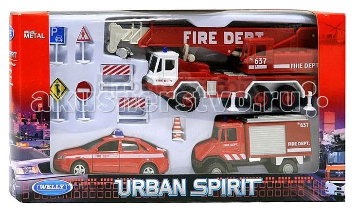 Welly Набор машин Пожарная служба 10 шт.