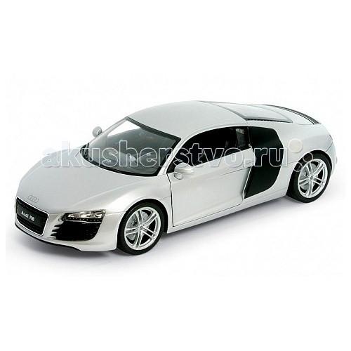 Welly Модель машины 1:24 Audi R8Модель машины 1:24 Audi R8Модель машины 1:24 Audi R8  Коллекционная модель масштаба 1:24 Audi R8.   Функции: открываются передние двери, капот.<br>