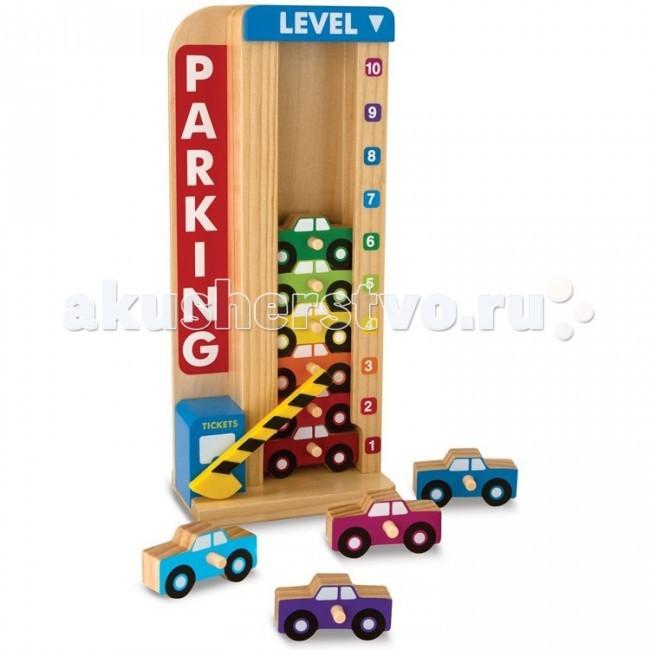 Деревянная игрушка Melissa &amp; Doug Классические игрушки Сложи и посчитай ГаражКлассические игрушки Сложи и посчитай ГаражMelissa & Doug Классические игрушки Сложи и посчитай Гараж - увлекательная развивающая игра, вызывающая у малышей интерес и восторг.   Устанавливайте машинки в этот вертикальный паркинг. Специальный счётчик посчитает, на каком уровне оказалась машинка и, значит, сможет продемонстрировать, сколько машин уже в паркинге.   С этой игрушкой очень увлекательно учиться считать.  Состоит из деревянного Гаража и разноцветных деталей - автомобилей.<br>