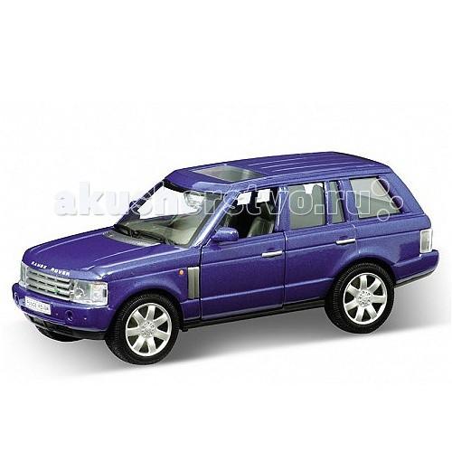 Welly Модель машины 1:33 Land Rover Range RoverМодель машины 1:33 Land Rover Range RoverМодель машины 1:33 Land Rover Range Rover  Коллекционная модель машины масштаба 1:33 Land Rover Range Rover.   Функции: открываются передние двери, инерционный механизм.<br>