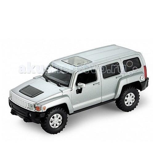 Welly Модель машины 1:32 Hummer H3Модель машины 1:32 Hummer H3Модель машины 1:32 Hummer H3  Коллекционная модель машины масштаба 1:32 Hummer H3.   Функции: открываются передние двери, инерционный механизм.<br>