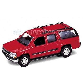 Welly Модель машины 1:34-39 2001 Chevrolet SuburbanМодель машины 1:34-39 2001 Chevrolet SuburbanМодель машины 1:34-39 2001 Chevrolet Suburban  Коллекционная модель машины масштаба 1:34-39 2001 Chevrolet Suburban.   Функции: открываются передние двери, инерционный механизм.<br>
