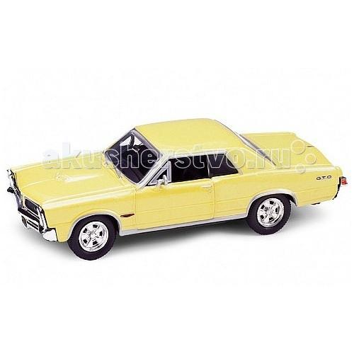Welly Модель винтажной машины 1:34-39 Pontiac GTO 1965Модель винтажной машины 1:34-39 Pontiac GTO 1965Модель винтажной машины 1:34-39 Pontiac GTO 1965  Коллекционная модель винтажной машины 1:34-39.   Функции: открываются передние двери, инерционный механизм.<br>
