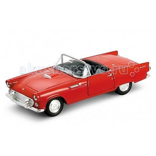 Welly Модель винтажной машины 1:34-39 Ford Thunderbird 1955Модель винтажной машины 1:34-39 Ford Thunderbird 1955Модель винтажной машины 1:34-39 Ford Thunderbird 1955  Коллекционная модель винтажной машины масштаба 1:34-39.   Функции: открываются передние двери, инерционный механизм.<br>