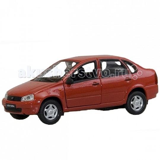 Welly Модель машины 1:34-39 Lada KalinaМодель машины 1:34-39 Lada KalinaМодель машины 1:34-39 Lada Kalina  Коллекционная модель машины масштаба 1:34-39 Lada Kalina.   Функции: открываются передние двери, инерционный механизм.<br>