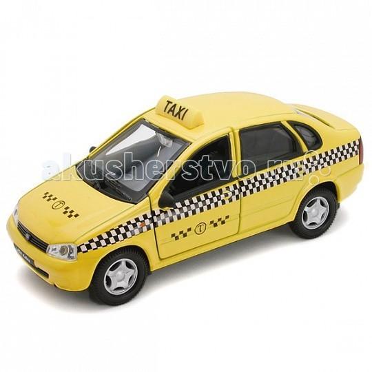 Welly Модель машины 1:34-39 Lada Kalina ТаксиМодель машины 1:34-39 Lada Kalina ТаксиМодель машины 1:34-39 Lada Kalina Такси  Коллекционная модель машины масштаба 1:34-39 Lada Kalina Такси.   Функции: открываются передние двери, инерционный механизм.<br>