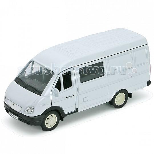 Welly Модель машины 1:34-39 ГАЗель фургон с окномМодель машины 1:34-39 ГАЗель фургон с окномМодель машины 1:34-39 ГАЗель фургон с окном.  Коллекционная модель машины масштаба 1:34-39 ГАЗель фургон с окном.   Функции: открываются передние двери, инерционный механизм.<br>