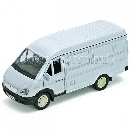 Welly Модель машины 1:34-39 ГАЗель фургонМодель машины 1:34-39 ГАЗель фургонКоллекционная модель машины масштаба 1:34-39 ГАЗель фургон.  Функции: открываются передние двери, инерционный механизм.<br>