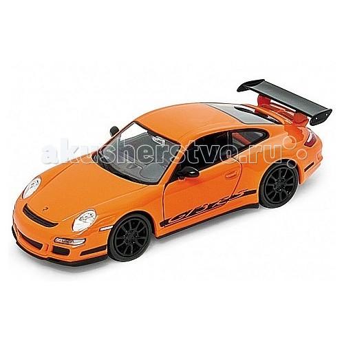 Welly Модель машины 1:34-39 Porsche GT3 RSМодель машины 1:34-39 Porsche GT3 RSМодель машины 1:34-39 Porsche GT3 RS  Коллекционная модель масштаба 1:34.   Функции: открываются передние двери, инерционный механизм.<br>