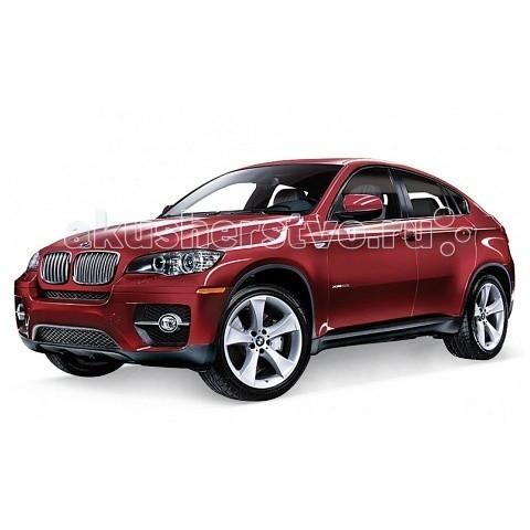 Welly Модель машины 1:38 BMW X6Модель машины 1:38 BMW X6Модель машины 1:38 BMW X6  Коллекционная модель масштаба 1:34 BMW X6.   Функции: открываются передние двери, инерционный механизм.<br>