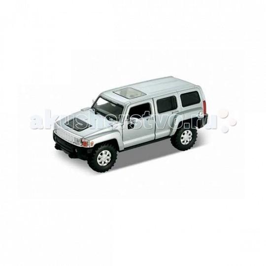 Welly Модель машины 1:34-39 Hummer H3Модель машины 1:34-39 Hummer H3Модель машины 1:34-39 Hummer H3  Коллекционная модель машины масштаба 1:34-39 Hummer H3.   Функции: открываются передние двери, инерционный механизм.<br>
