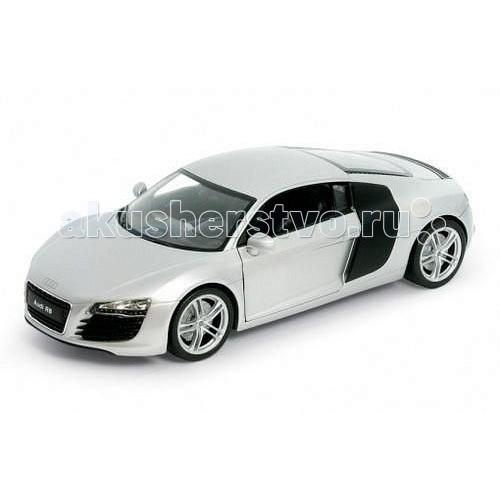 Welly Модель машины 1:34-39 Audi R8Модель машины 1:34-39 Audi R8Модель машины 1:34-39 Audi R8  Коллекционная серебряная металлическая машинка представлена в масштабе 1:34-39 и выполнена из прочного металла и пластмассы.<br>
