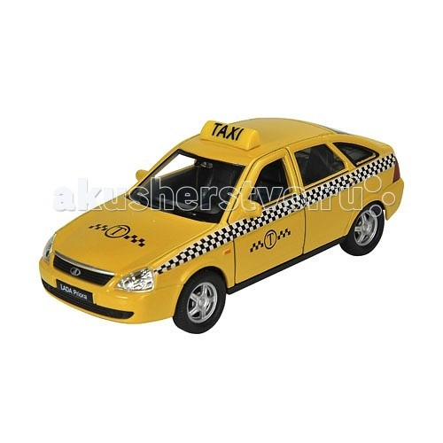 Welly Модель машины 1:34-39 Lada Priora ТаксиМодель машины 1:34-39 Lada Priora ТаксиМодель машины 1:34-39 Lada Priora Такси<br>