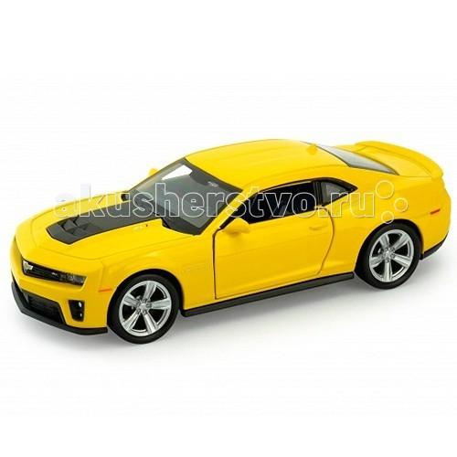 Welly Модель машины 1:34-39 Chevrolet Camaro ZL1Модель машины 1:34-39 Chevrolet Camaro ZL1Модель машины 1:34-39 Chevrolet Camaro ZL1  Машинка Welly представлена в виде модели масштабом 1:34-39, которая является точной копией автомобиля Chevrolet Camaro ZL1.  Во время игры у ребенка развивается мелкая моторика рук, воображение и фантазия.  Функции: открываются передние двери, инерционный механизм.<br>