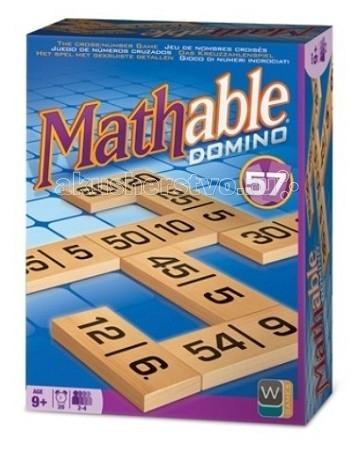 Mathable Настольная игра Математическое ДоминоНастольная игра Математическое ДоминоMathable 5002 Настольная игра Математическое Домино.  Компания Wooky Entertainment специализируется на разработке брендов. Они производят высококачественные продукты, следуя последним мировым тенденциям. Компания Wooky Entertainment представляет большое разнообразие брендов: Wooky Entertainment – это совершенный дизайн и всегда творческий подход. Их кредо – создавать передовые инновационные продукты, исходя из последних мировых тенденций. Wooky Europe является европейским партнером по маркетингу и дистрибуции всех брендов Wooky с офисами в Нидерландах, Великобритании и Германии.  Математическое домино – это быстрая семейная игра с числами. Она отлично подойдет для отдыха в кругу семьи, а также как замечательный способ весело скоротать время! Кроме того, игра может использоваться как обучающий материал. Она позволяет развить такие навыки как логика, стратегическое мышление, внимательность, ну и, конечно, устный счет!  Как играть Игроки должны с помощью костей домино выполнить любое математическое действие +, -, x, &#247;. Для этого они должны положить одну из своих костей таким образом, чтобы одно из чисел на ней являлось результатом математического действия с двумя соседними числами. При этом неважно, находятся эти числа на одной кости или на разных. Если игрок не может разместить кость на поле, он должен взять одну из резерва, положить её перед собой и пропустить ход. Победителем является игрок, который первым разместил все свои кости на игровом поле.  В комплект входят: 57 костей с числами 3 запасных пустых кости правила игры.  Количество игроков: от 2 до 4 Продолжительность игры: около 20 мин.<br>
