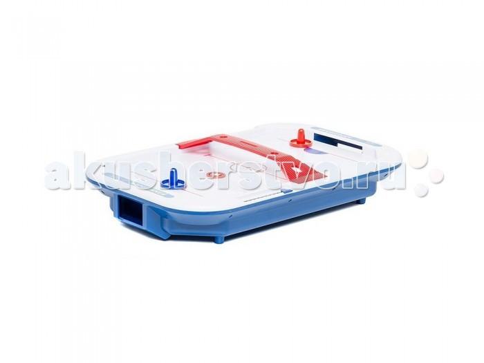 X-Match Настольная игра Аэрохоккей 66449Настольная игра Аэрохоккей 66449X-match Настольная игра Аэрохоккей - увлекательное состязание для двух участников! С помощью бит игроки защищают свои ворота и забивают шайбы в ворота противника. Для удобства участников на боковой панели игрового поля расположен счетчик очков.  Играть не только интересно, но и полезно! Игра помогает развить координацию движений, скорость реакции и внимание.  Размер игрового поля: 43х27 см. Игрушка работает от 2 батареек типа D (R20) (1,5V).<br>